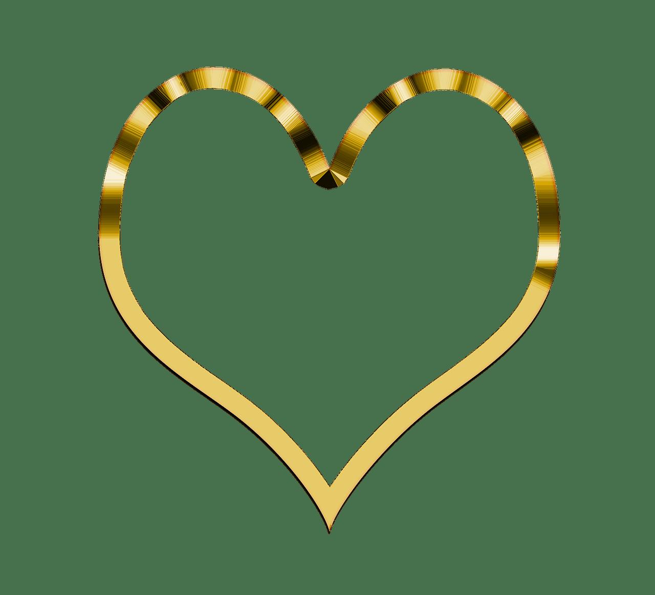 Simple heart clipart image transparent stock Heart Simple Golden transparent PNG - StickPNG image transparent stock