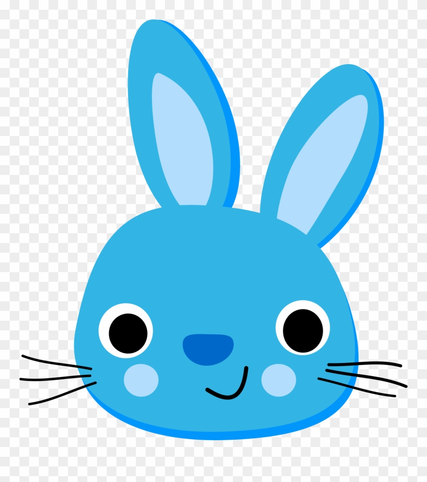 Simple hop clipart clipart library Simple Clipart Bunny - Rabbit Blue - Png Download (#26758 ... clipart library