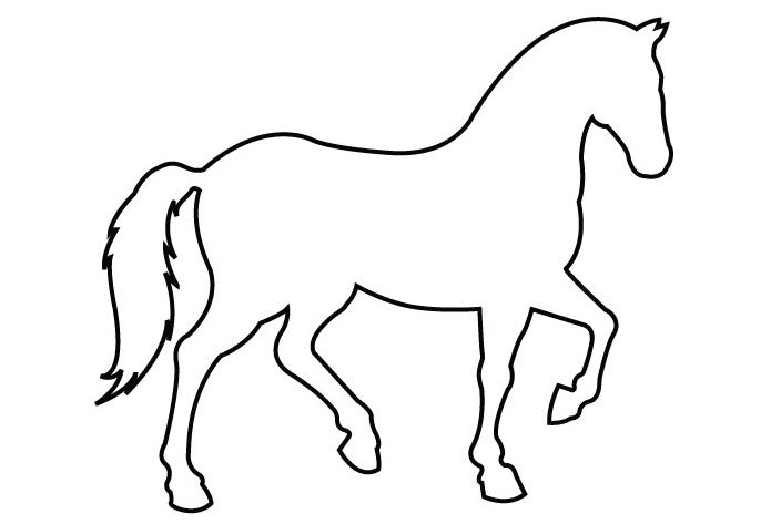 Simple horse clipart svg free Simple Outline Horse - ClipArt Best | Felt Horses | Horse ... svg free