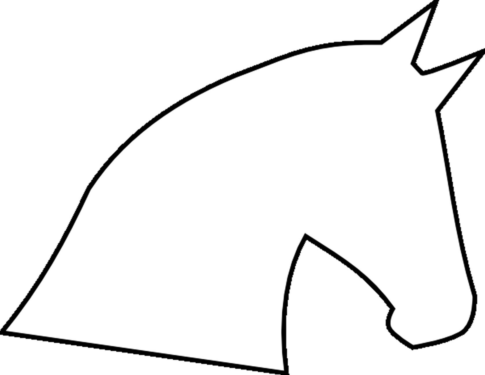 Simple unicorn head clipart banner Horse Head Outline | Template (Click here to download horse ... banner