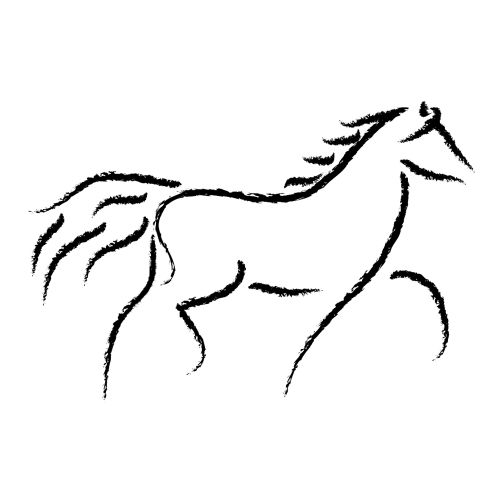 Simple horse clipart vector free library original clipart by Cassandra Mitchell at Coroflot.comon ... vector free library
