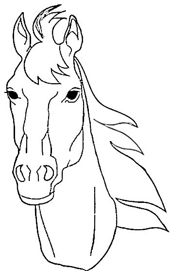 Simple horse face clipart picture free library Horse Coloring Pages | Animal Coloring Images | Horse ... picture free library