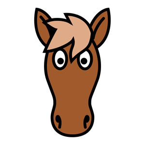 Simple horse face clipart clip royalty free library Horse head clipart, cliparts of Horse head free download ... clip royalty free library