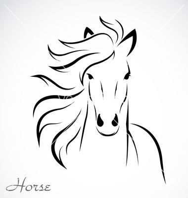 Simple horse face clipart clip freeuse stock Abstract Horse Outline | Horse vector | leaf arts | Horse ... clip freeuse stock