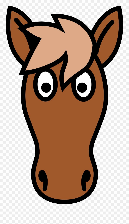 Simple horse face clipart clipart transparent Big Image - Simple Clipart Horse Head - Png Download ... clipart transparent