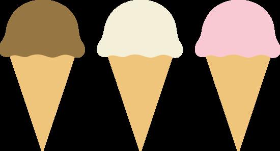 Simple ice cream cones clipart clip art royalty free library Three Ice Cream Cones - Free Clip Art clip art royalty free library