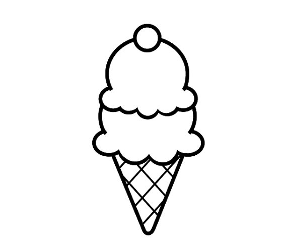 Simple ice cream cones clipart image transparent library Ice Cream Cone Black And White | Free download best Ice ... image transparent library