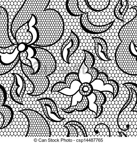 Simple lace patterns clipart clipart black and white download Lace Pattern Clipart - Clipart Kid clipart black and white download