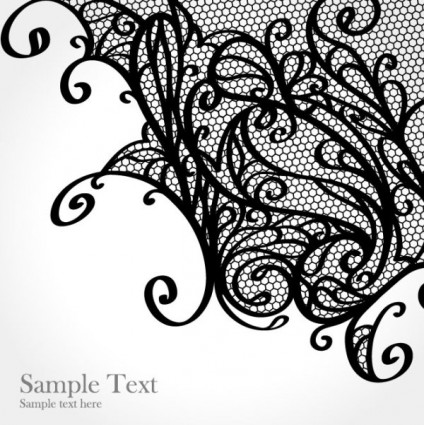 Simple lace patterns clipart banner black and white stock Lace Pattern Clipart - Clipart Kid banner black and white stock