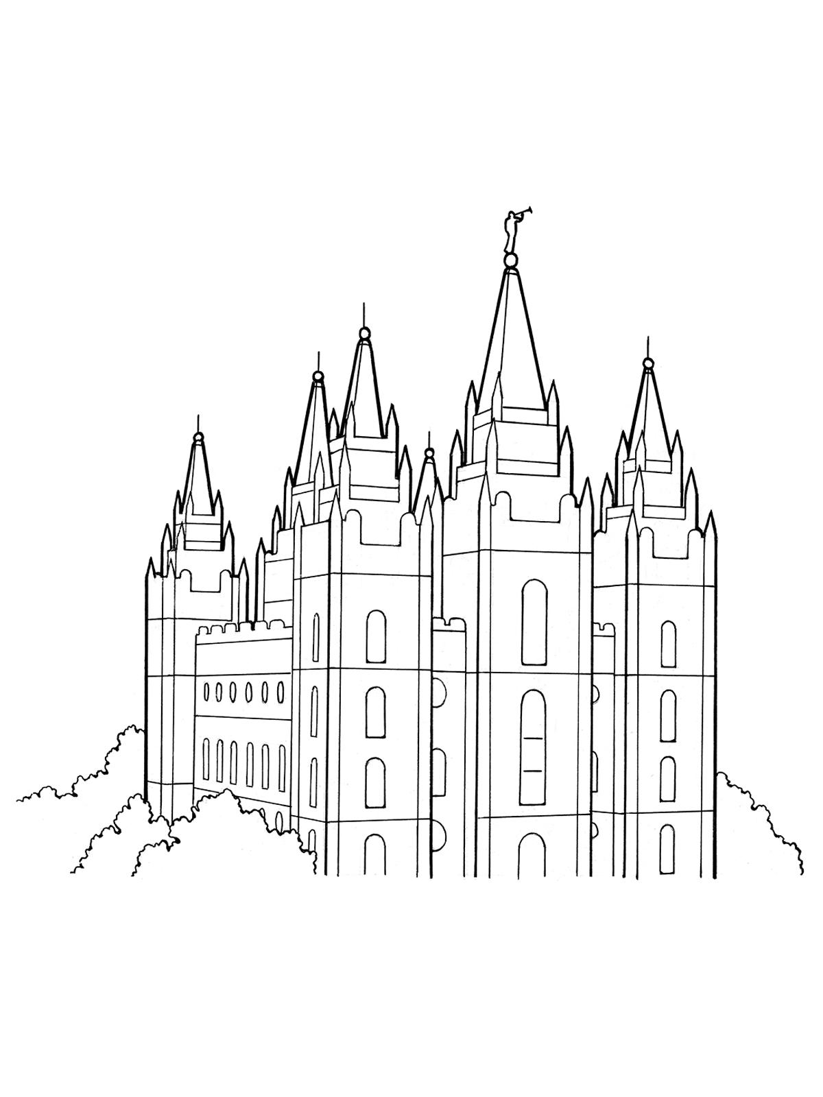 Simple lds temple clipart jpg royalty free download Best HD Inside Mormon Temple Vector Design » Free Vector Art ... jpg royalty free download