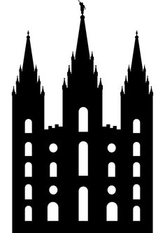 Simple lds temple clipart svg black and white download 7 Best temple silhouettes images in 2014 | Lds temples ... svg black and white download