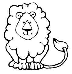 Simple lion clipart