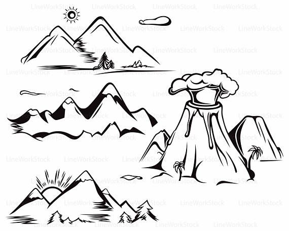 Mountains the mountain clipart ideas on simple mountain 2 ... vector library stock