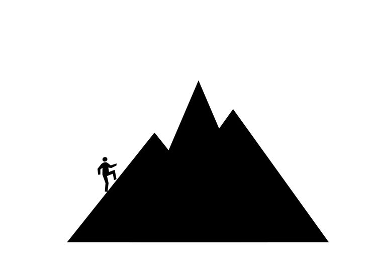 Ideas about mountain clipart on simple 3 - ClipartAndScrap graphic black and white download