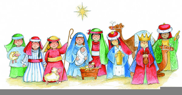 Simple nativity clipart banner library library Childrens Nativity Clipart   Free Images at Clker.com ... banner library library