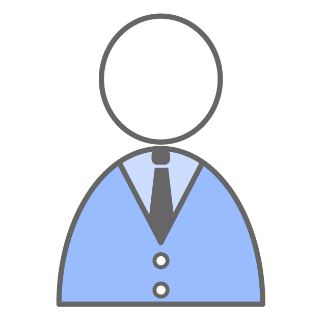 Simple person clipart graphic Simple person - Free icon material graphic