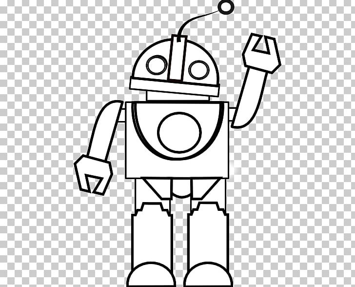 Simple robot with balloon clipart black and white clipart free stock Robot Black And White Drawing Coloring Book PNG, Clipart ... clipart free stock