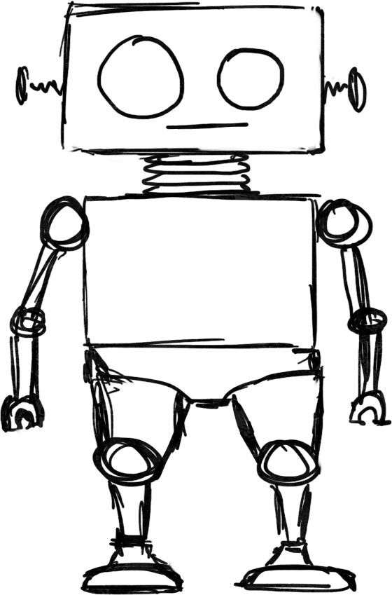 Esay clipart picture library Robot clipart easy - Pencil and in color robot clipart easy ... picture library