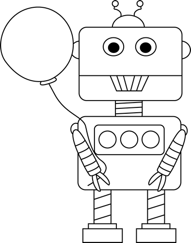 Simple robot with balloon clipart black and white vector freeuse library Free Robot Cliparts Black, Download Free Clip Art, Free Clip ... vector freeuse library