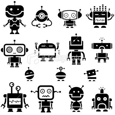 Simple robot with balloon clipart black and white clipart library download Simple robot symbols. | Robot Illustration in 2019 | Robot ... clipart library download