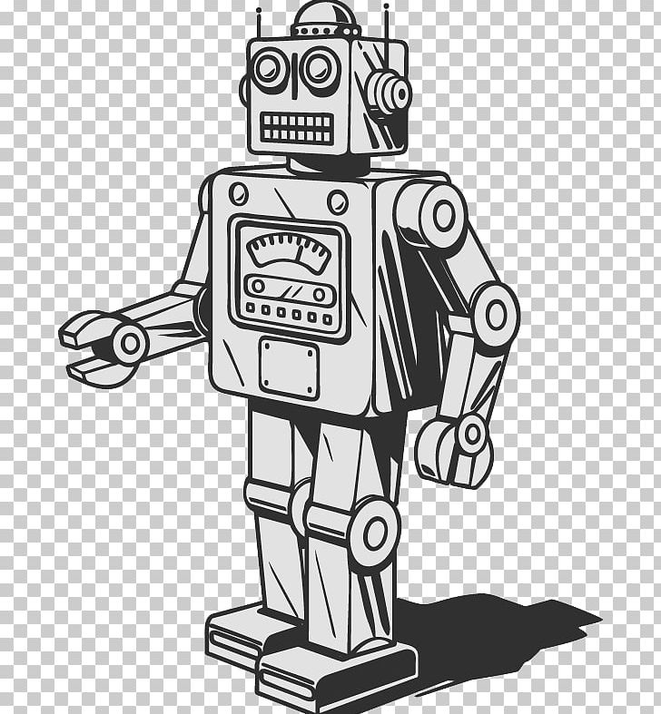 Simple robot with balloon clipart black and white clipart transparent download Robot Graphics Drawing Stock Illustration PNG, Clipart ... clipart transparent download