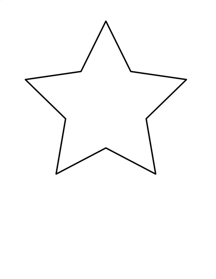 Simple shape clipart graphic transparent Coloring Book World ~ Star Simple Shapes Easy Coloringes For ... graphic transparent