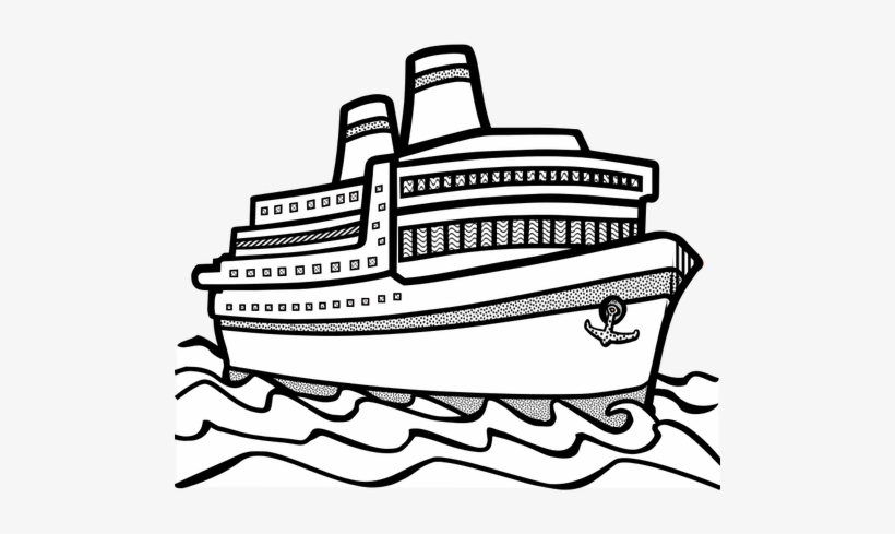 Simple ship clipart png black and white library Cruise Clipart Simple Ship - Ship Line Art - Free ... png black and white library