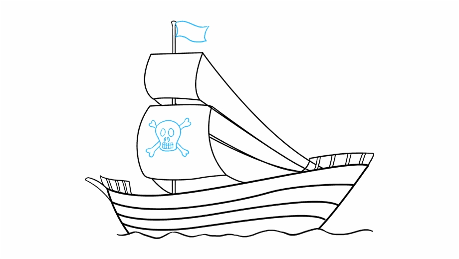 Simple ship clipart clipart download How To Draw Pirate Ship - Simple Pirate Ship Drawing Free ... clipart download