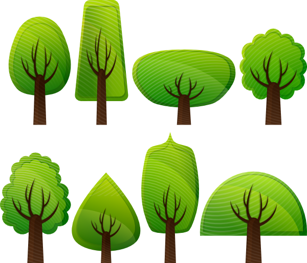 Simple tree clipart clip free library Simple Trees Clip Art at Clker.com - vector clip art online, royalty ... clip free library