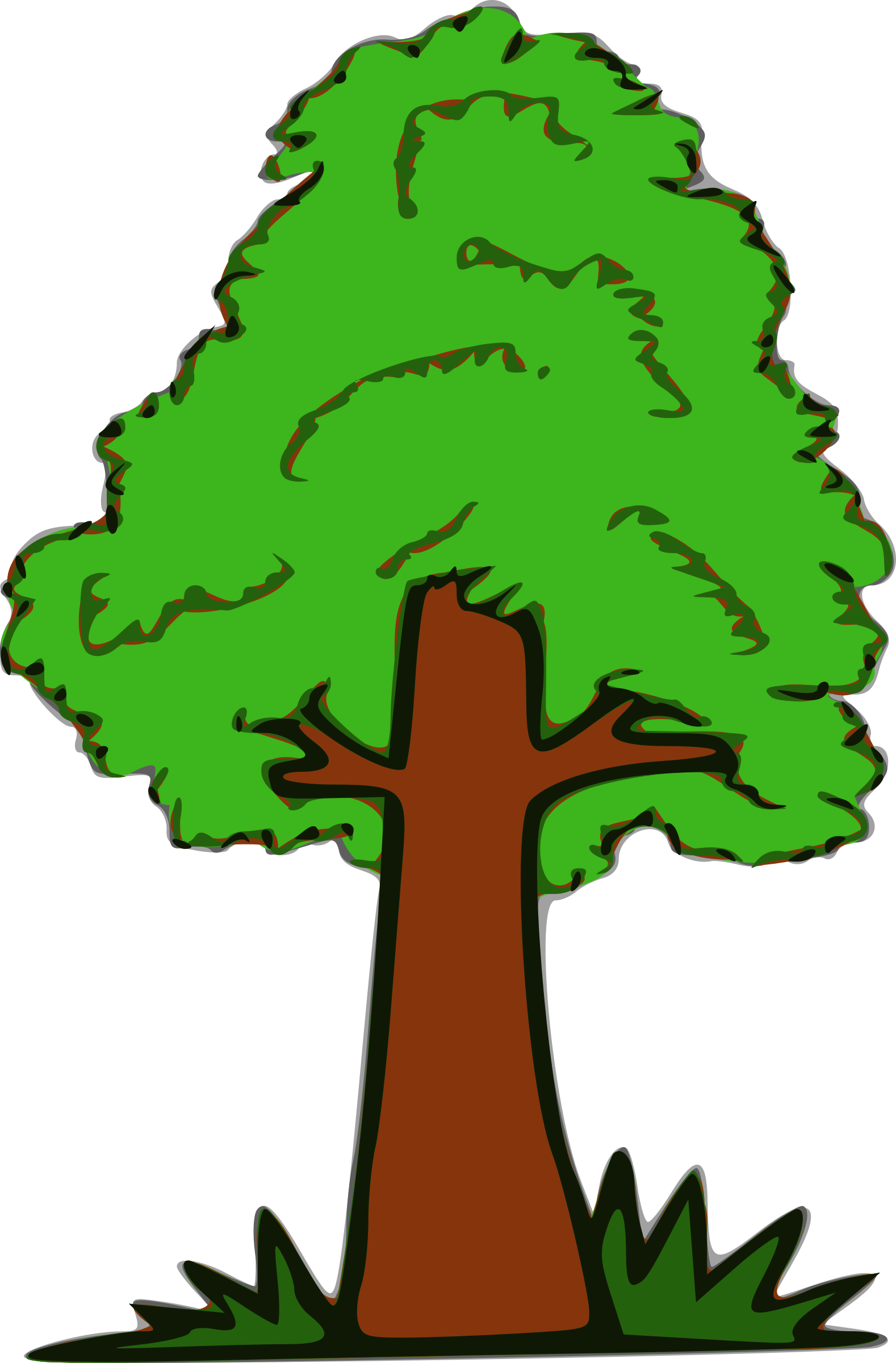 Tree and grass clipart clipart free stock Clipart - Simple Tree clipart free stock