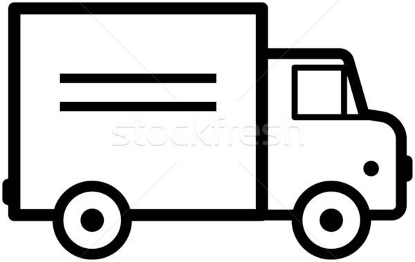 Simple truck clipart freeuse stock Simple truck icon - vector illustration vector illustration ... freeuse stock