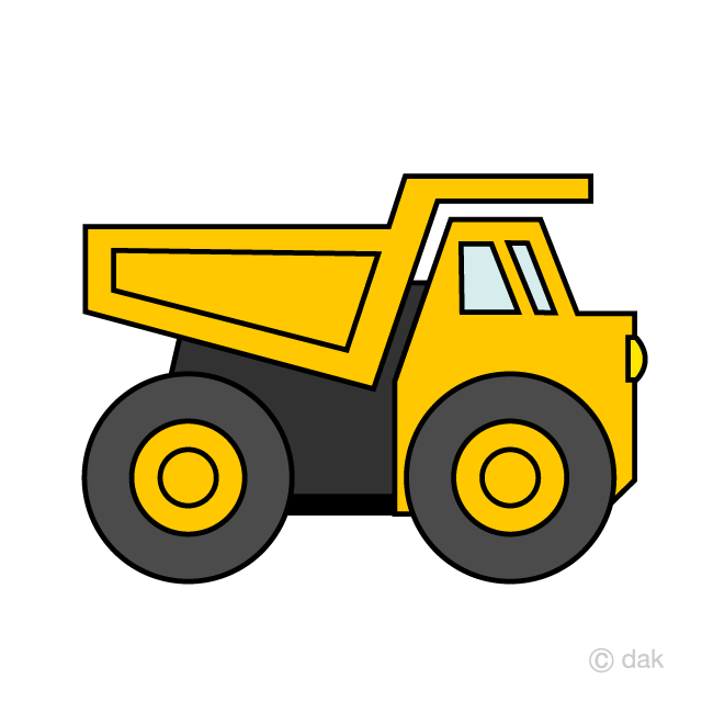 Yellow dump truck clipart clipart transparent library Simple Off-Road Dump Truck Clipart Free Picture|Illustoon clipart transparent library