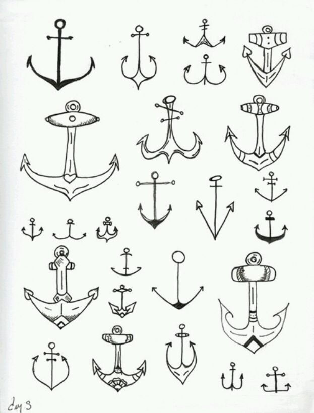 Simple underline clipart anchor clip free Simple Hipster Tattoos Anchor tattoo cute easy ... clip free