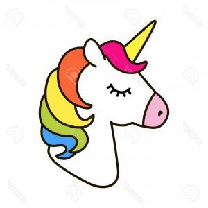 Simple unicorn head clipart vector library Photostock Vector Dabbing Cartoon Unicorn Vector Clip Art ... vector library