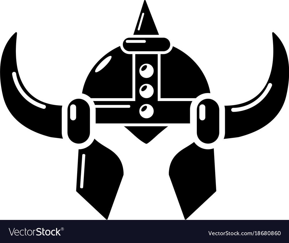 Simple viking helmet clipart png download Viking helmet knight icon simple black style png download
