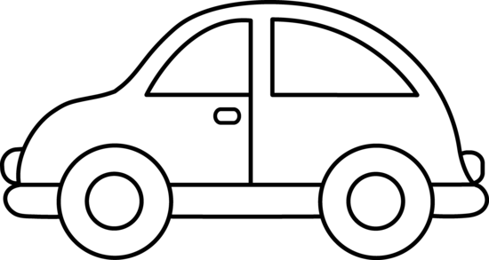 Simple wooden car clipart black and white graphic download Cute Toy Car Coloring Page | crafts | Cars coloring pages ... graphic download