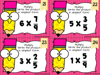 Simplest form clipart transparent Multiply a Fraction by a Whole Number Task Cards transparent