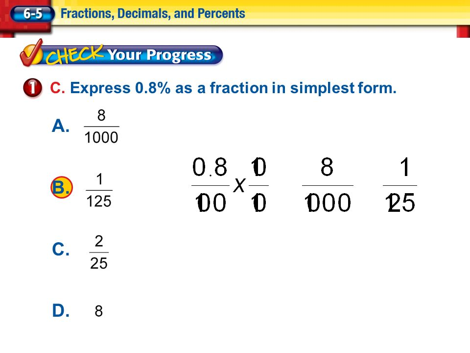 Simplest form clipart graphic free library Percents as Fractions A. Express 40% as a fraction in ... graphic free library