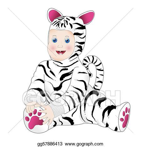 Simpticao clipart banner library Vector Clipart - Bebe zebra. Vector Illustration gg57886413 ... banner library