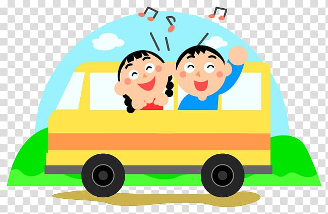 Sing in car clipart image black and white download Field trip School Child , Happy singing in the car ... image black and white download