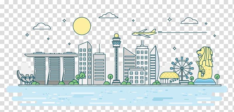 Singapore clipart svg download Singapore famous landmark animation, Singapore Euclidean ... svg download