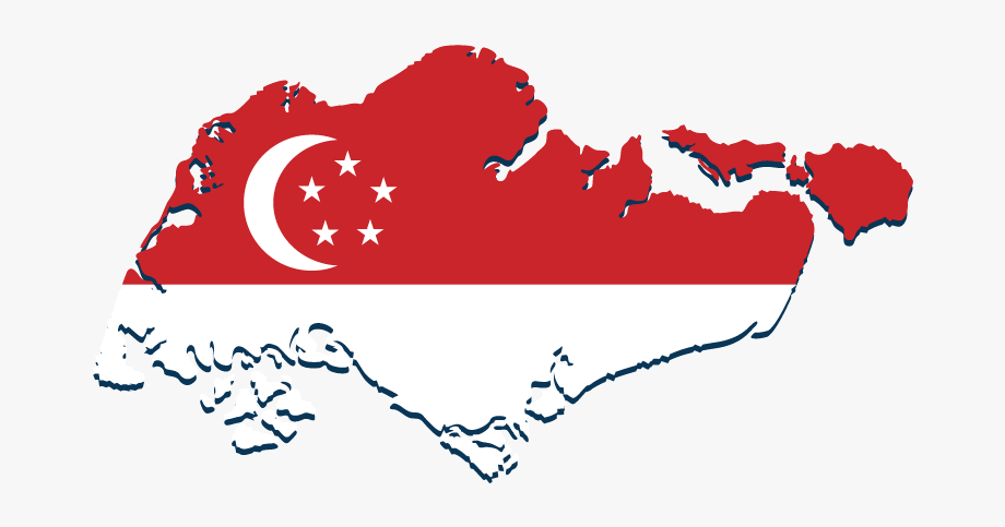 Singapore clipart vector freeuse stock Singapore City Tours - Singapore Flag In Map #1056425 - Free ... vector freeuse stock