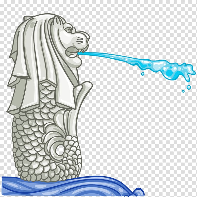 Singapore merlion clipart clipart library stock Merlion logo illustration, Merlion Park Drawing, SINGAPORE ... clipart library stock