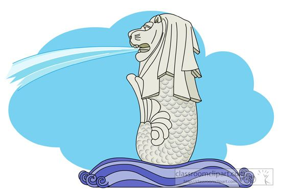 Singapore merlion clipart png freeuse download Pin by Badman Man on Drawings | Merlion singapore, Singapore ... png freeuse download