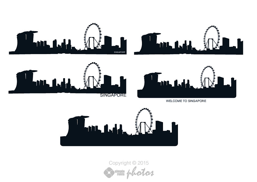 Singapore skyline silhouette clipart graphic library stock Vector File of Singapore Skyline | Simple Reels Photos graphic library stock