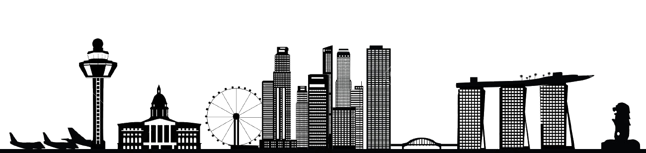 Singapore skyline silhouette clipart svg download Singapore Skyline - Korea landmark png download - 1300*308 ... svg download