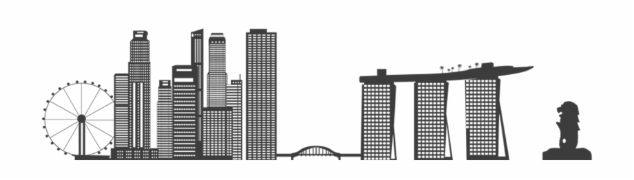 Singapore skyline silhouette clipart image transparent download Singapore Skyline Png - Singapore Skyline Vector Png Free ... image transparent download