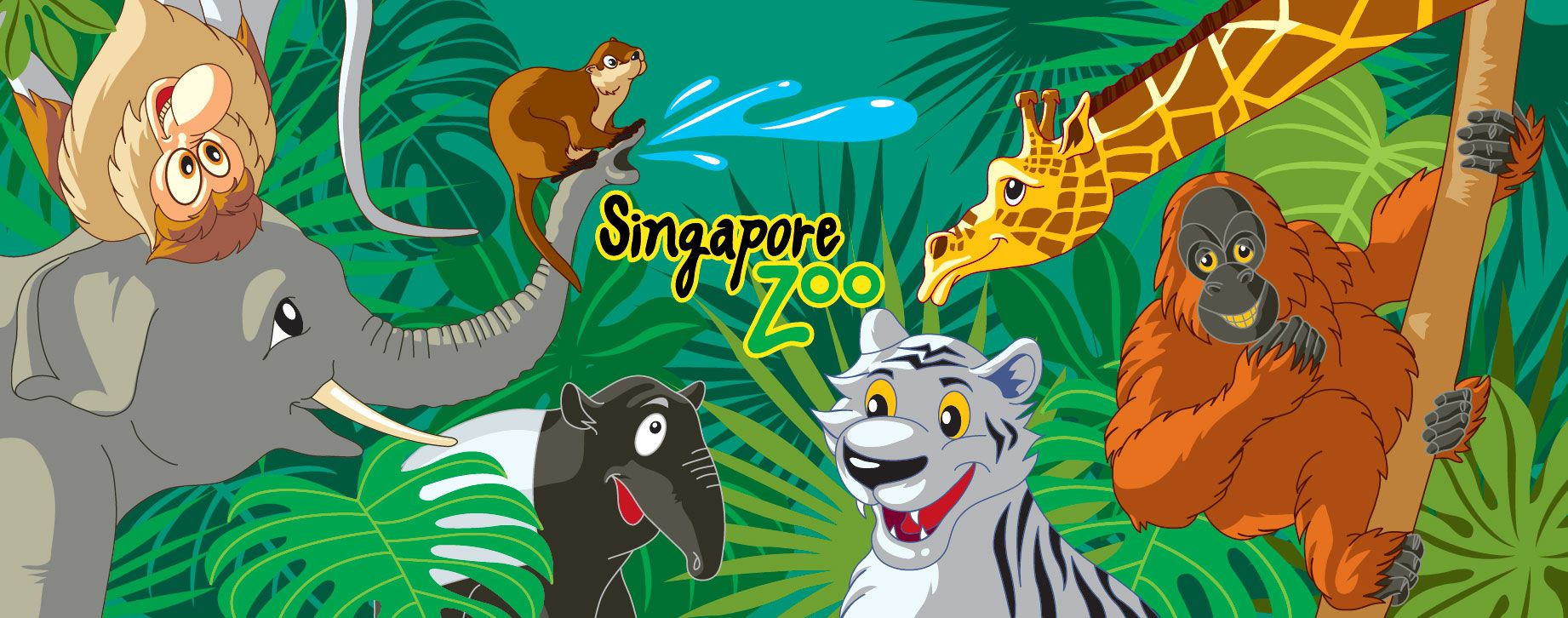 Singapore zoo clipart clip free library Singapore Zoo | Illustrations by Anthony Tan | Singapore zoo ... clip free library