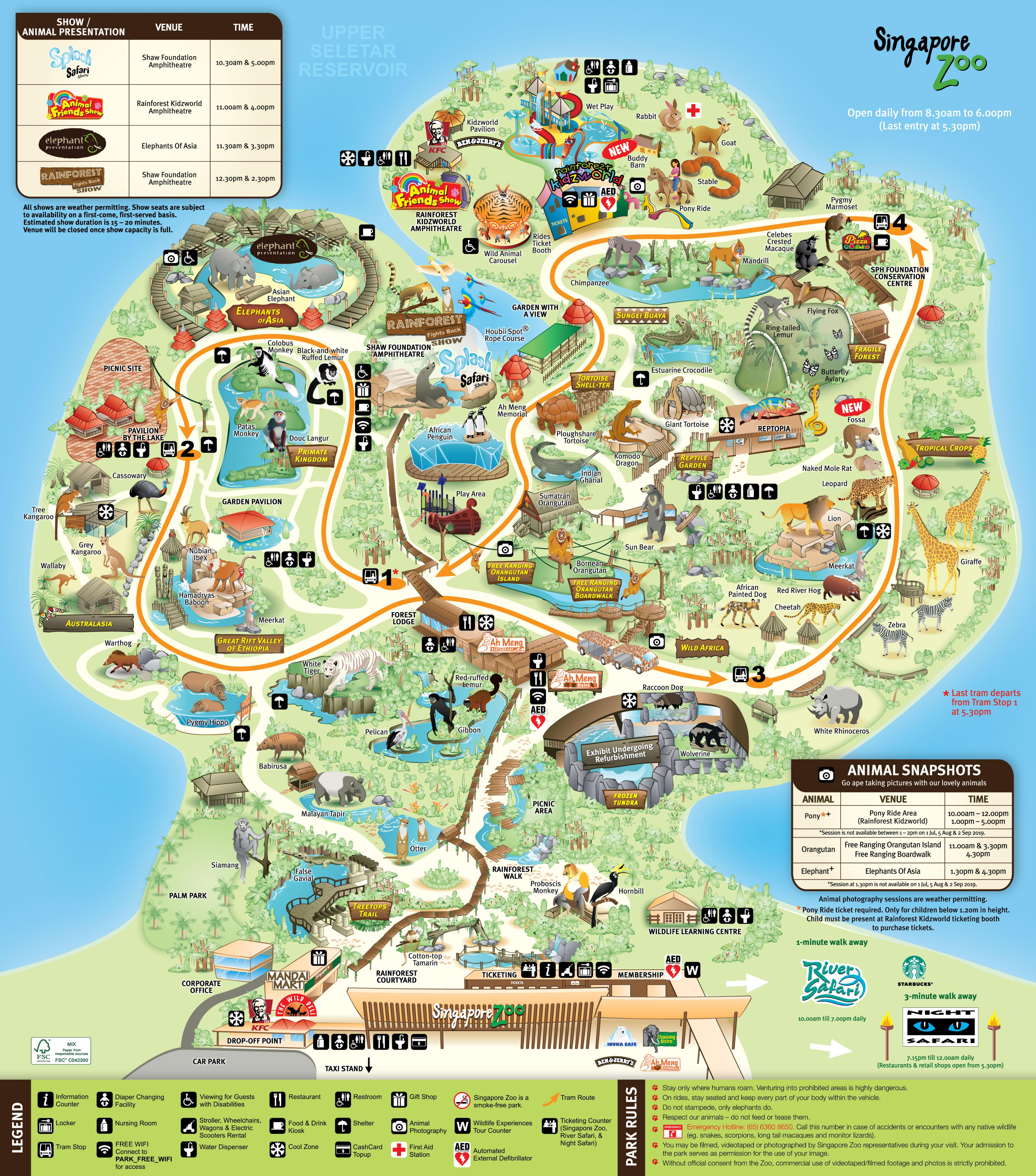 Singapore zoo clipart graphic transparent library Singapore Zoo Map - Singapore Zoo | Wildlife Reserves Singapore graphic transparent library