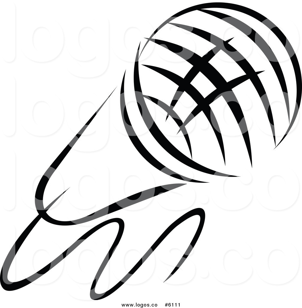 Singer logo clipart svg stock Royalty Free Clip Art Vector Logo of a Black and White ... svg stock